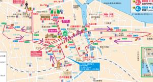 曳山の巡行コース