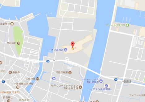 イオン高松屋上駐車場