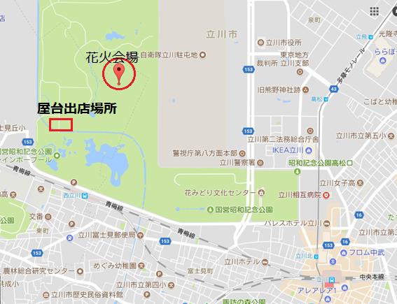 昭和 屋台出店場所