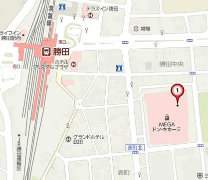 タイムMEGAドン・キホーテ 勝田店本館とタイムMEGAドン・キホーテ 勝田店平面