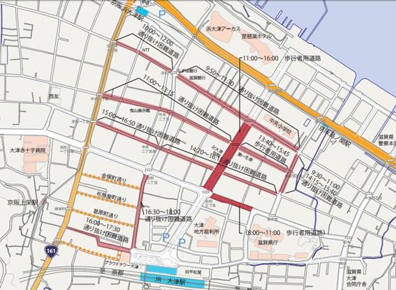 10月8日(日)本祭の交通規制予定図